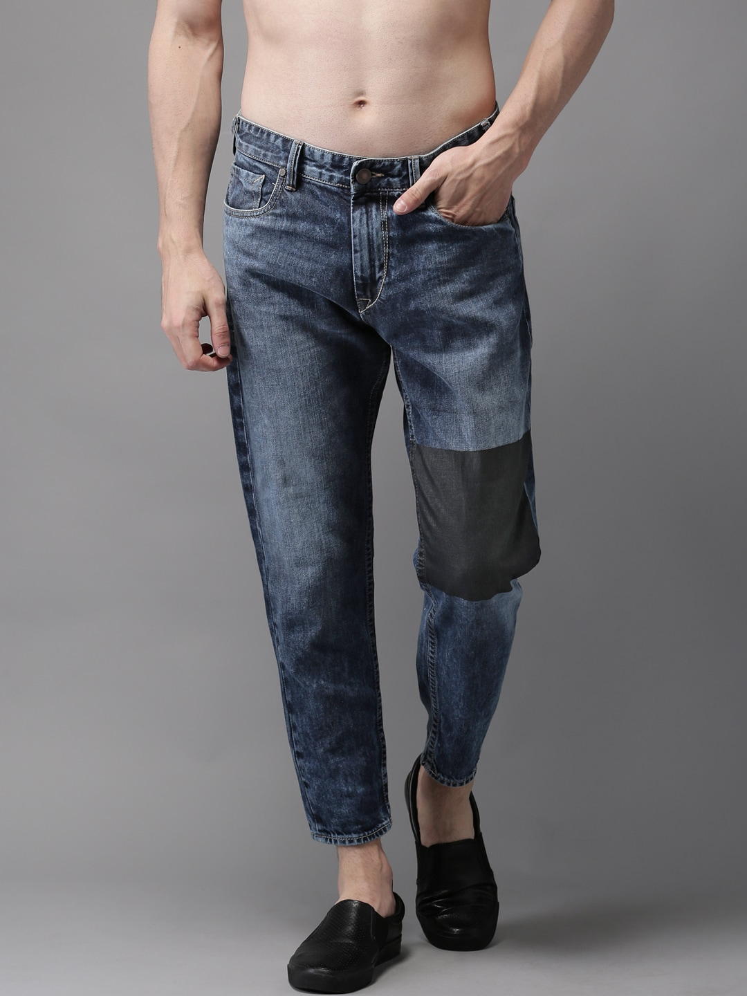 Moda Rapido Men Blue Slim Tapered Fit Mid-Rise Clean Look Jeans image