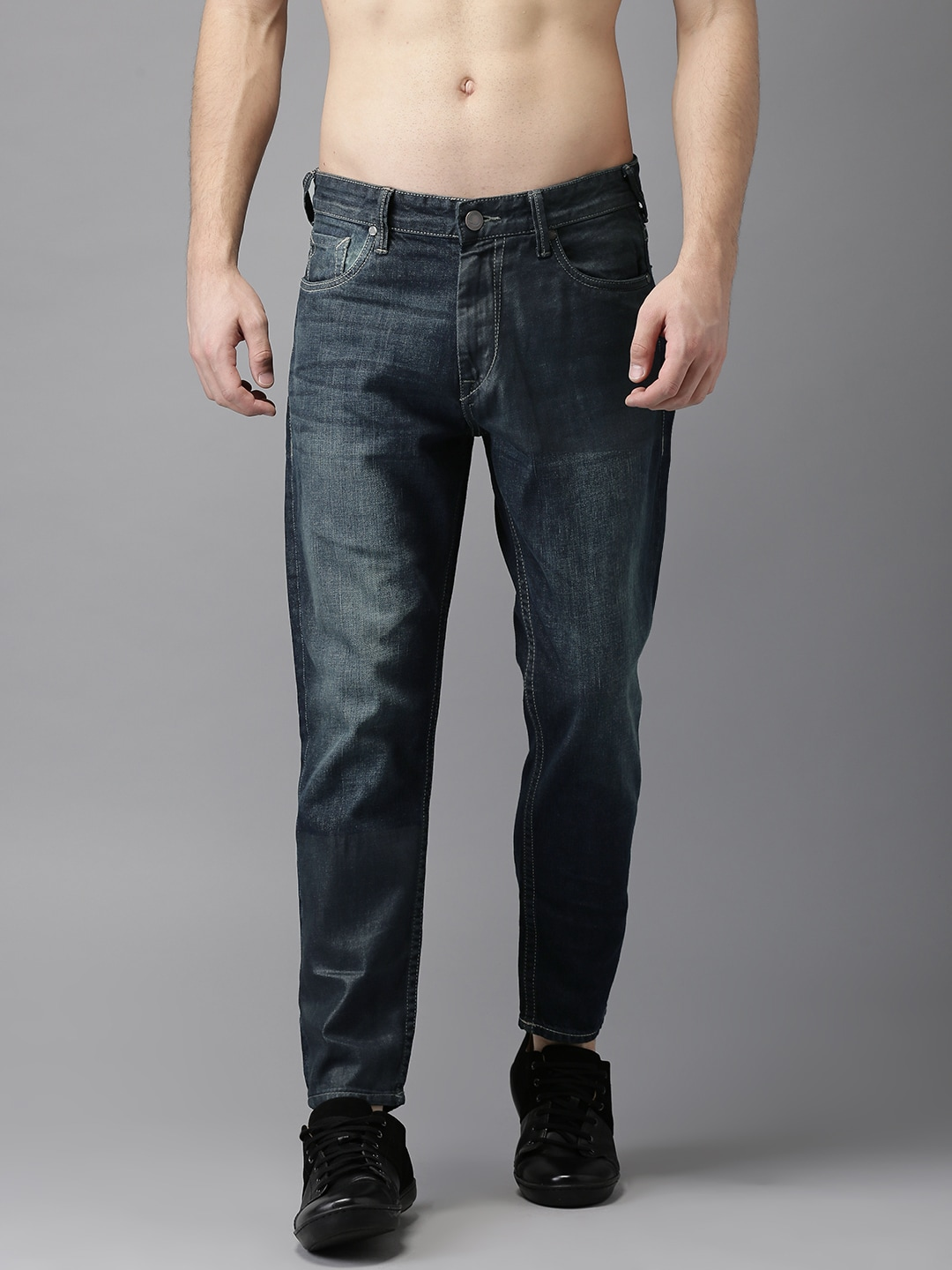 Moda Rapido Men Blue Tapered Fit Low-Rise Clean Look Jeans image