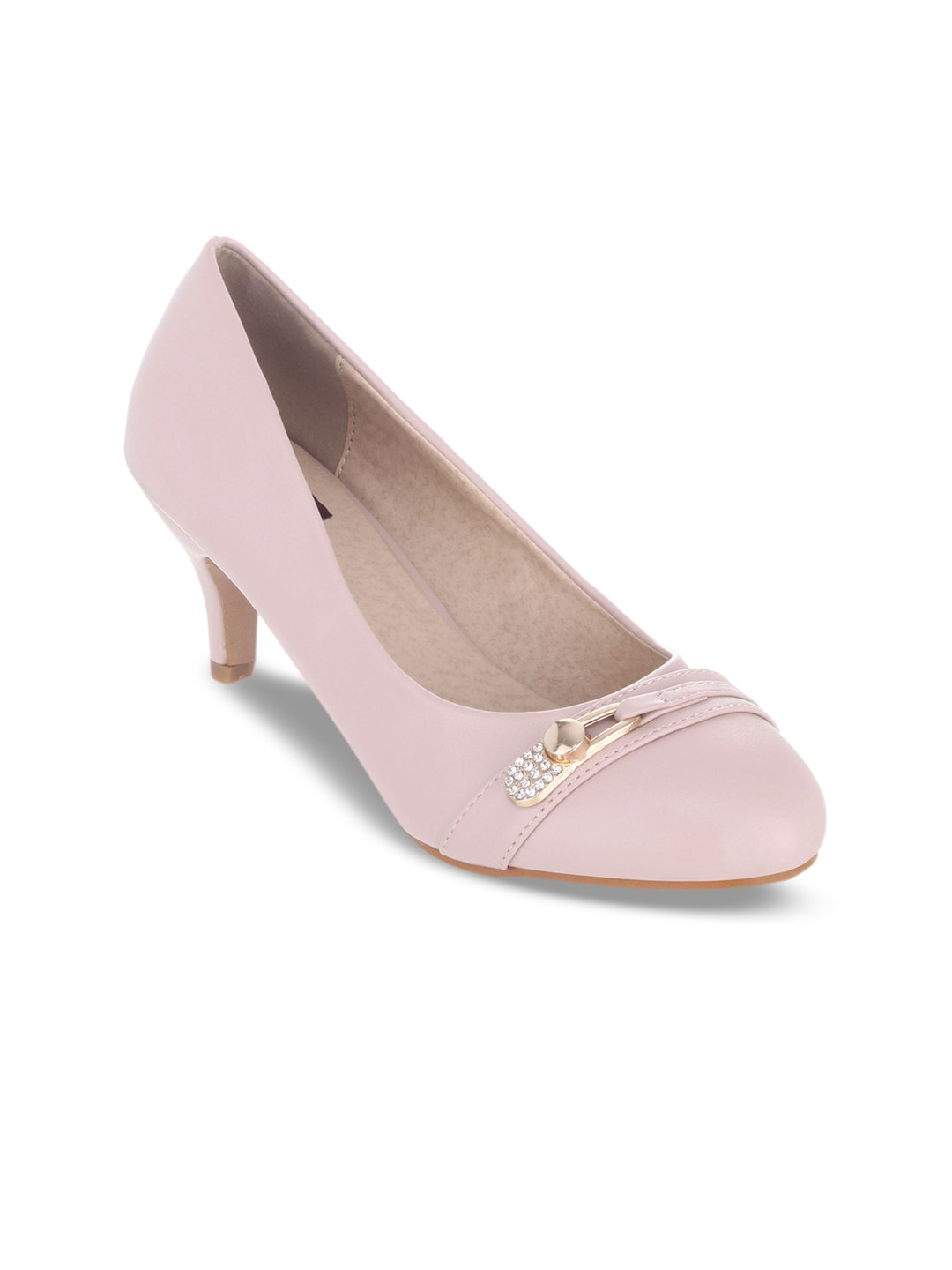SHUZ TOUCH Women Pink Solid Pumps image