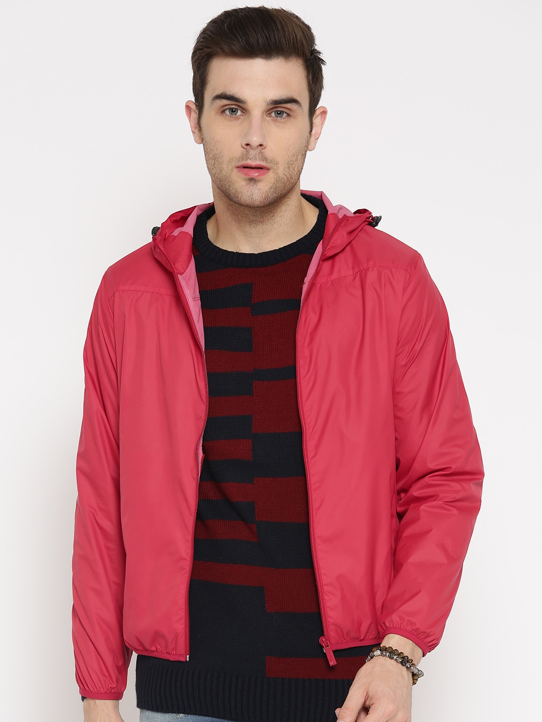 Monte Carlo Men Red Hooded Jacket image