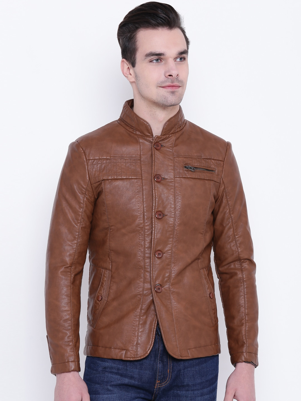 Fort Collins Men Brown Solid Tailored Jacket image