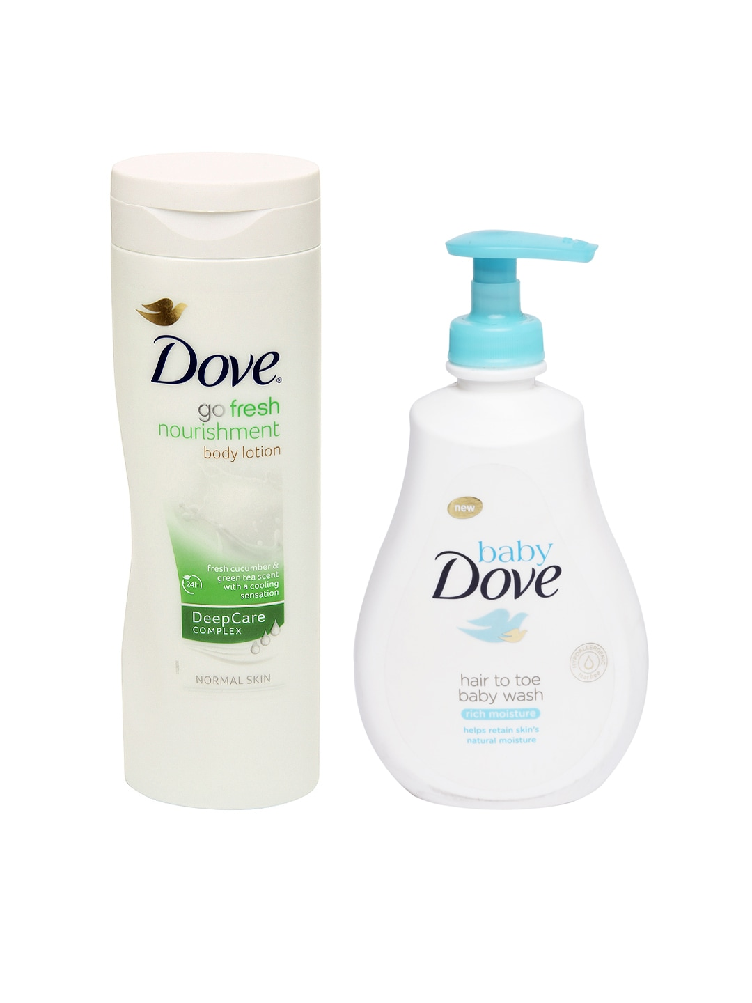 Dove Hair To Toe Baby Wash & Go Fresh Nourishment Body Lotion image