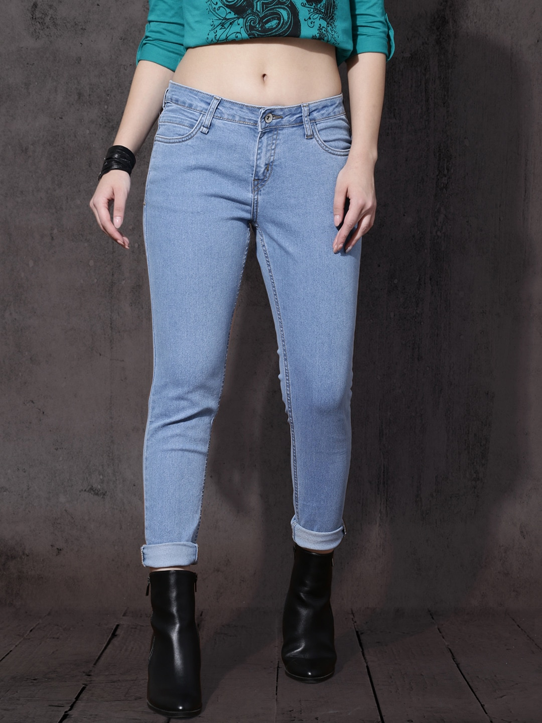 Roadster Women Blue Skinny Fit Stretchable Jeans