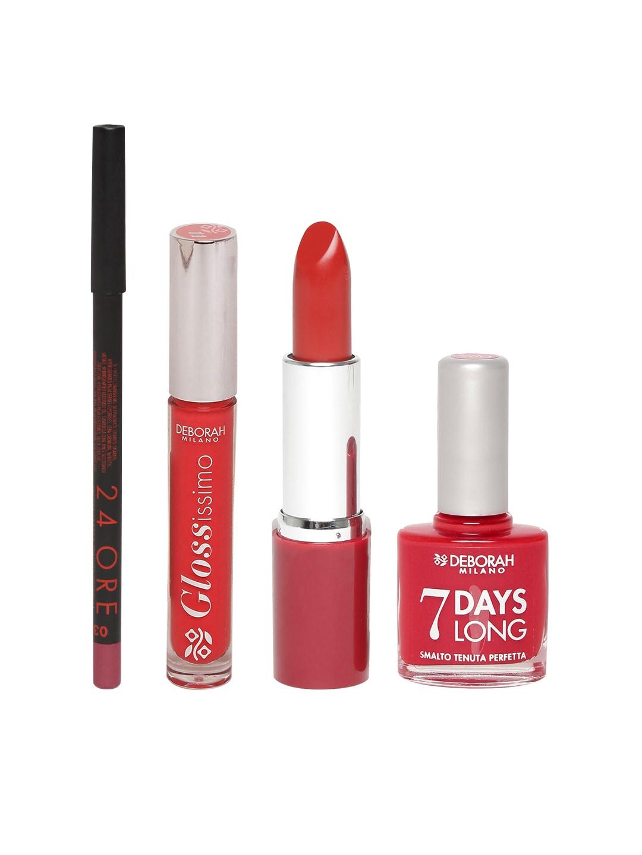 Deborah Lip Gloss, Lipstick, Nail Polish & Lip Pencil Combo image