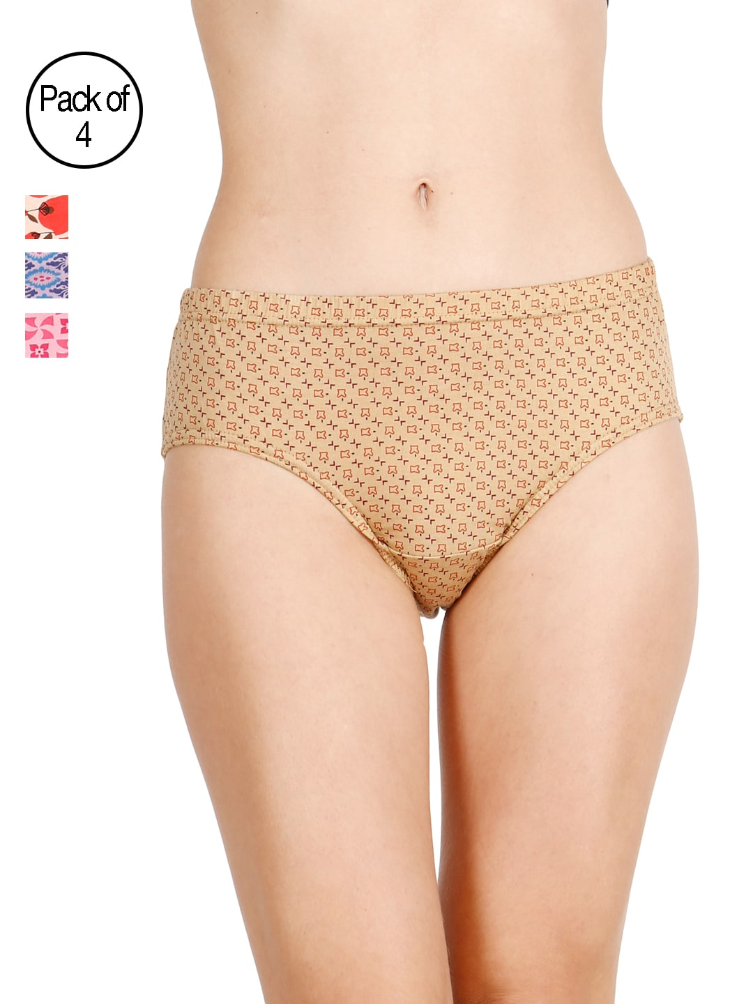 LUX Cozi for her  Pack Of 4 Briefs LC4H-HIP102-ABCD image