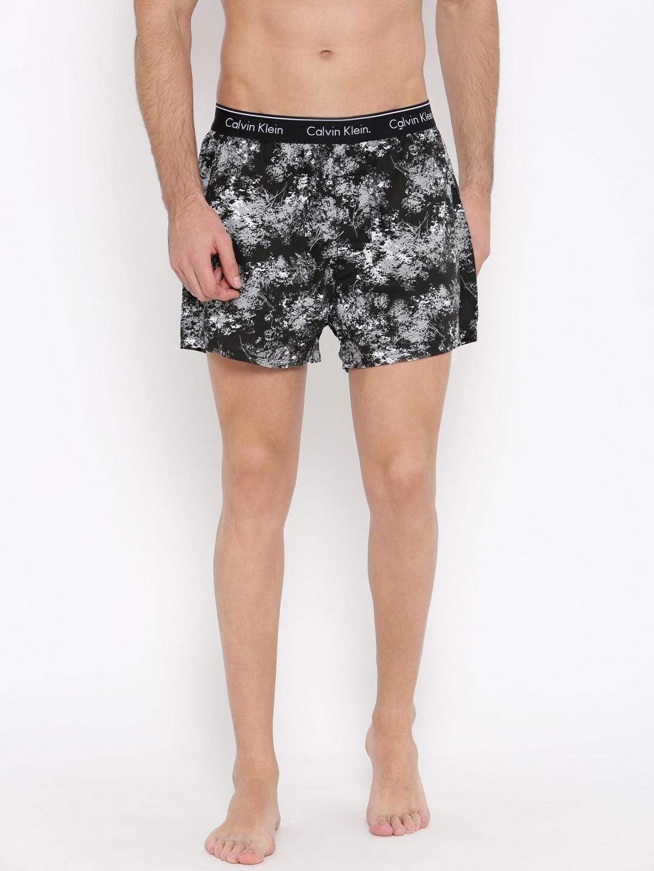 Calvin Klein Black Printed Boxers NU17182FH image