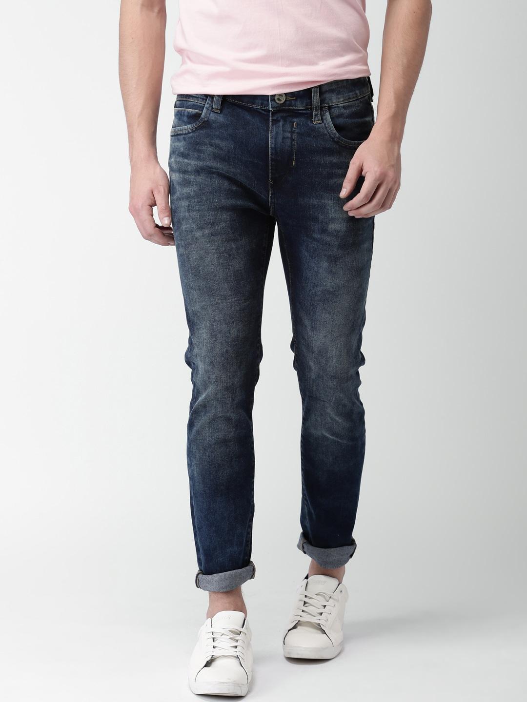 Mast & Harbour Men's Blue Skinny Fit Jeans