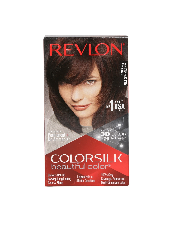 Revlon Colorsilk Unisex Beautiful Color Dark Mahogany Brown Hair Colour Kit image