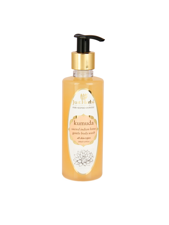 Just Herbs Unisex Kumuda Sacred Indian Lotus Gentle Body Wash 200 ml image