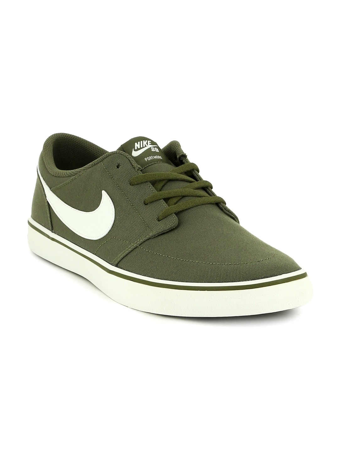 Buy Nike SB PORTMORE II SOLAR Men's Olive Green Colored Skate Shoes Online at Best Price