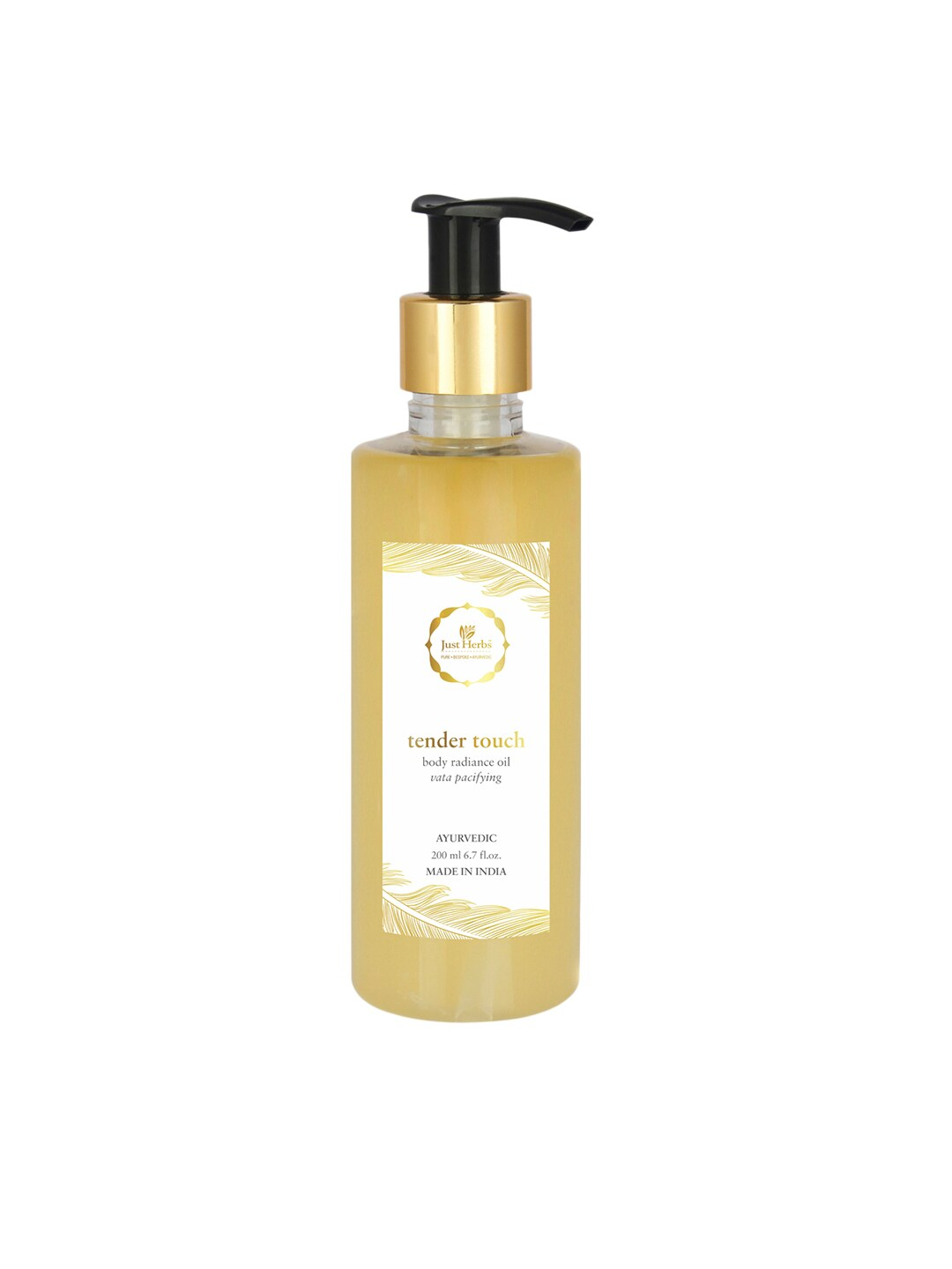 Just Herbs Unisex Tender Touch Body Radiance Oil 200 ml image