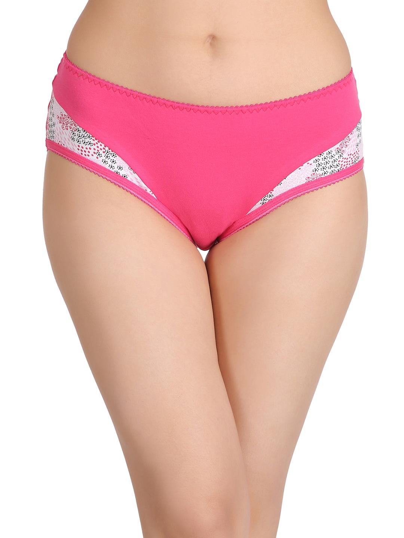 Clovia Women Pink Cotton High Waist Hipster Briefs PN2203P04XXL image