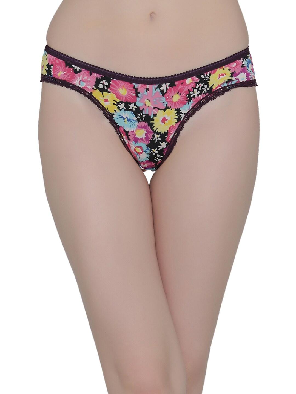 Clovia Women Pink Printed Low Waist Bikini Briefs PN1998P22S image