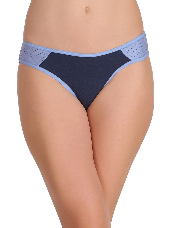 Clovia Women Blue Colourblocked Bikini Briefs PN2092P08XXL image