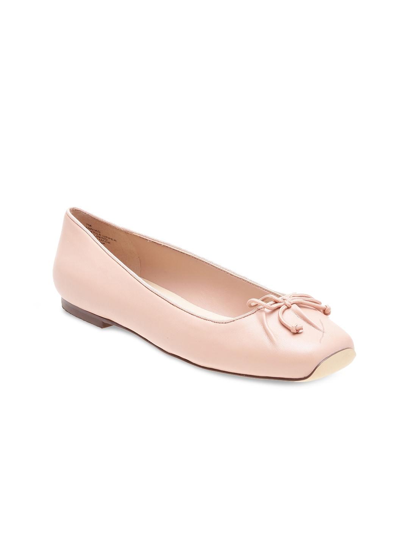 Nine West Women Pink Leather Ballerinas image