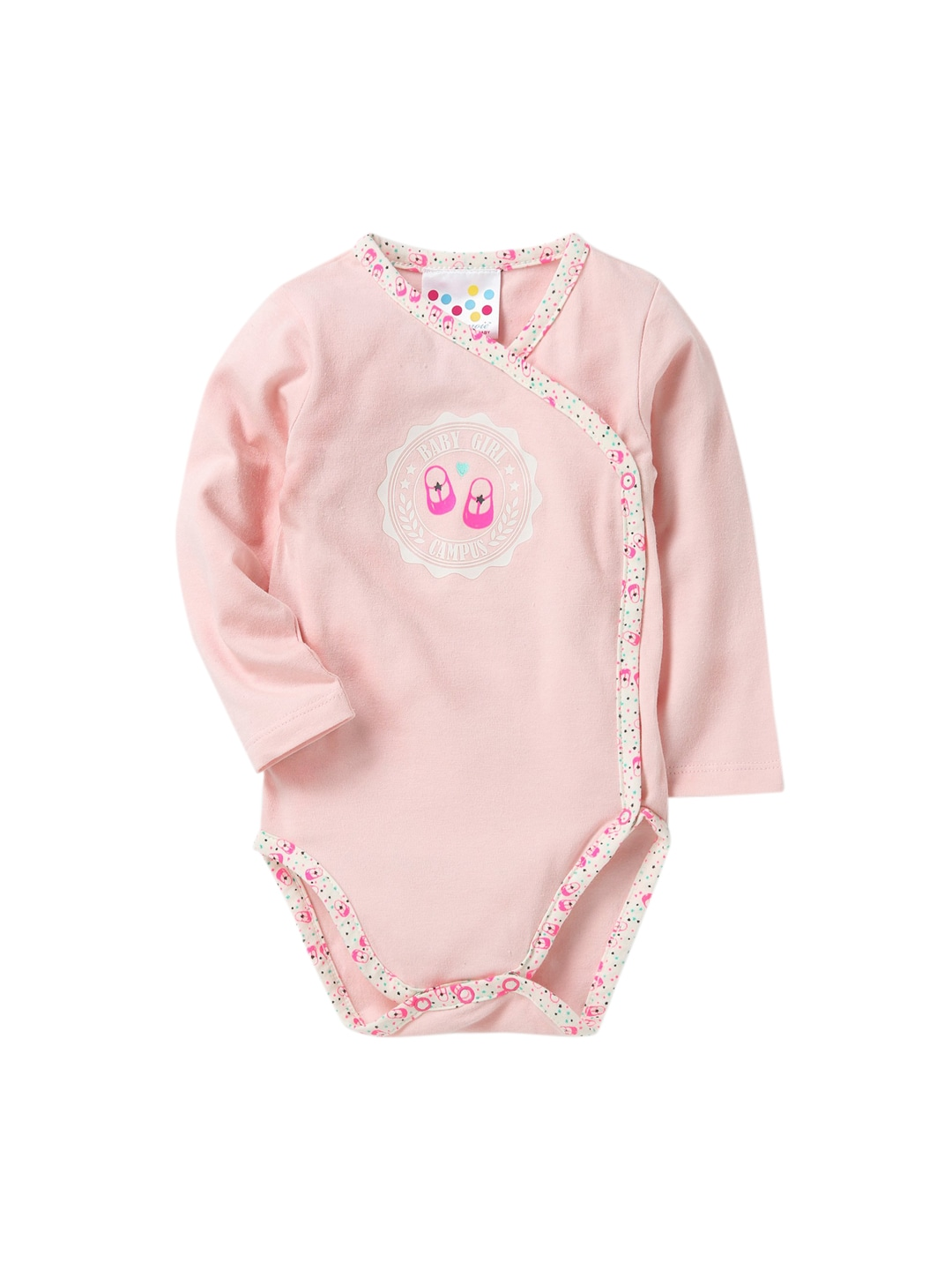 Eimoie Infant Pink Printed Bodysuit image