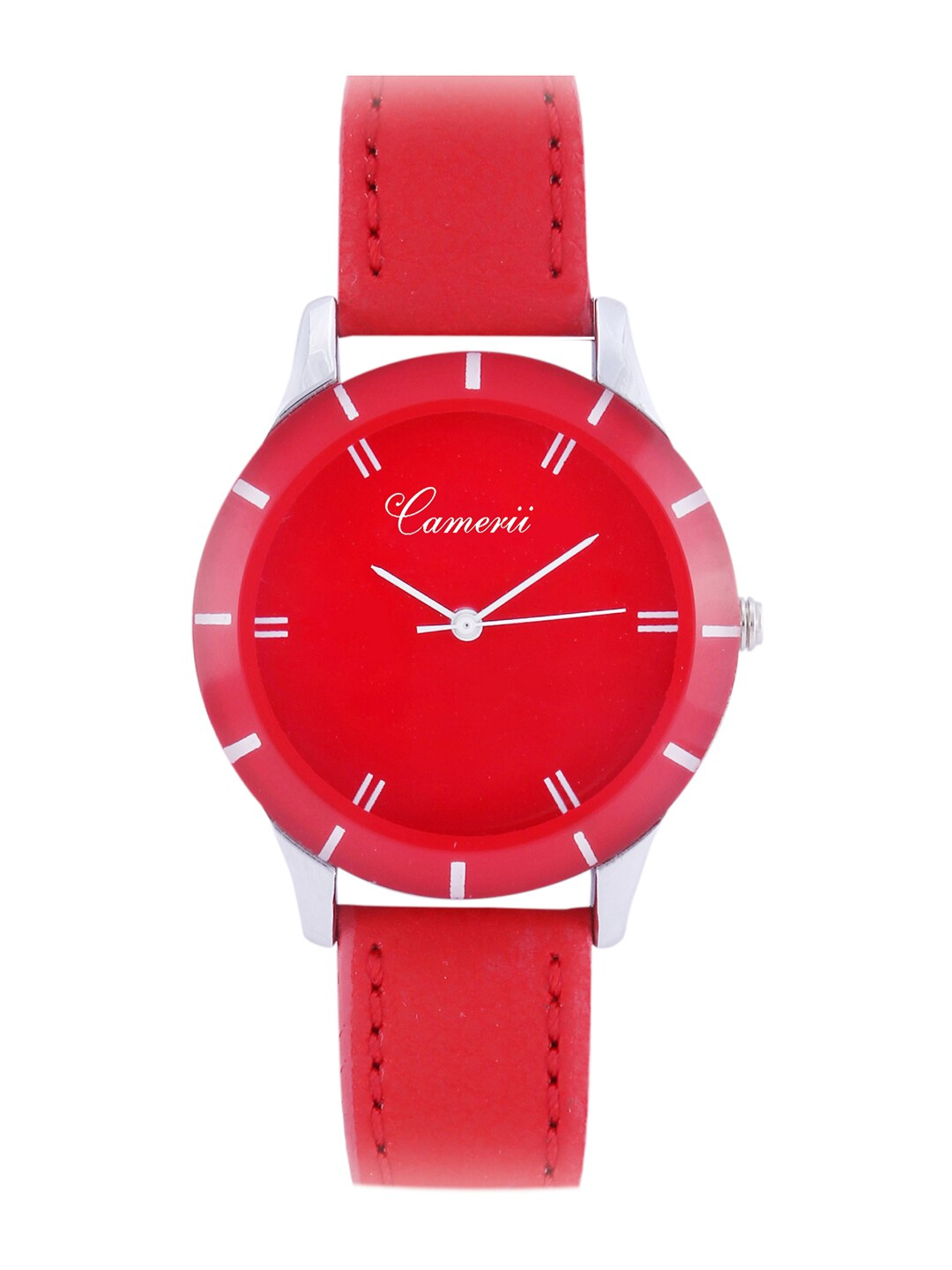 Camerii Women Red Analogue Watch image