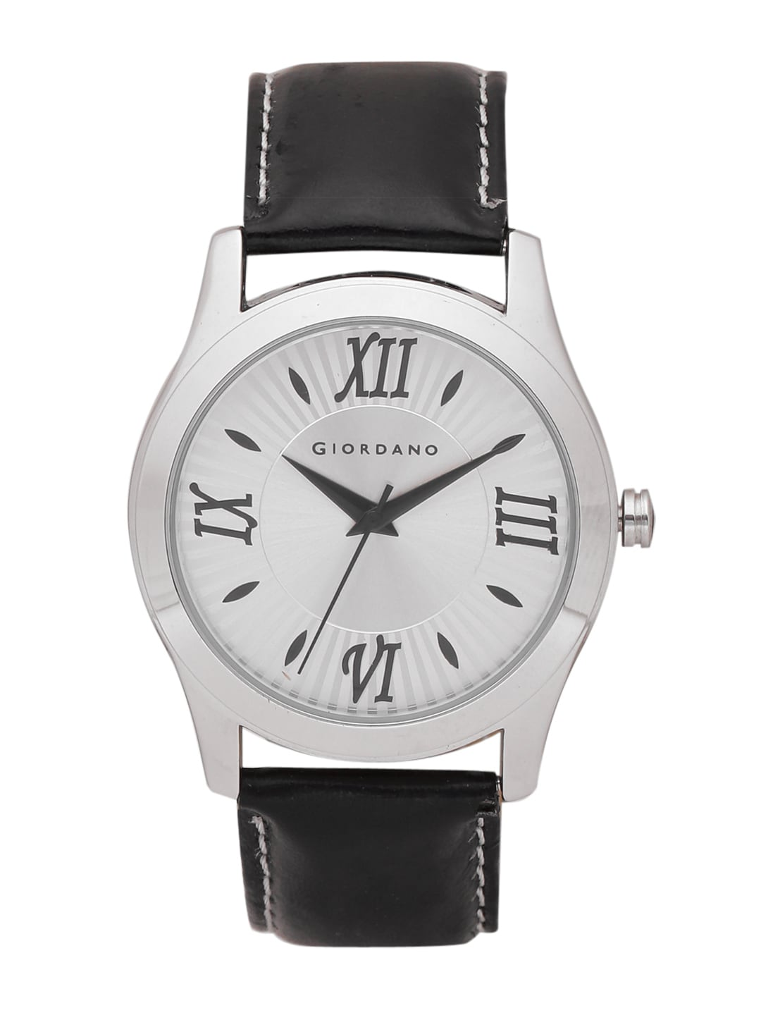 GIORDANO Men Silver-Toned Analogue Watch image
