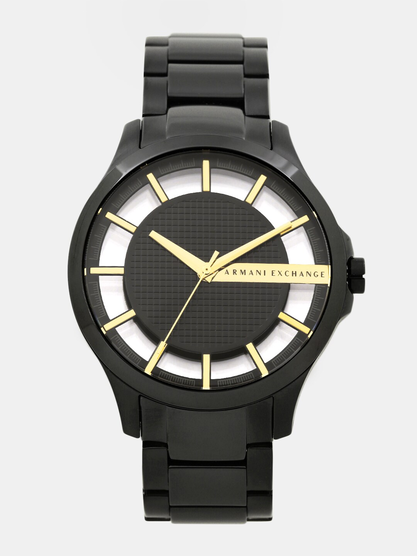 Armani Exchange Men Black & Gold-Toned Analogue Watch AX2192