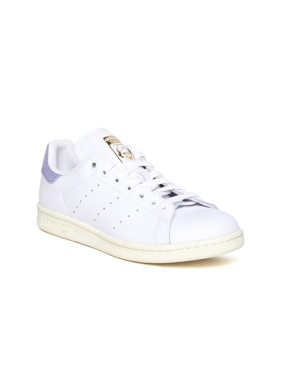 Adidas Originals Women White Stan Smith Leather Sneakers image