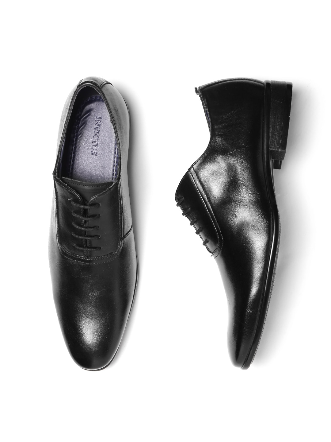 Buy INVICTUS Black Formal Oxfords At Best Price