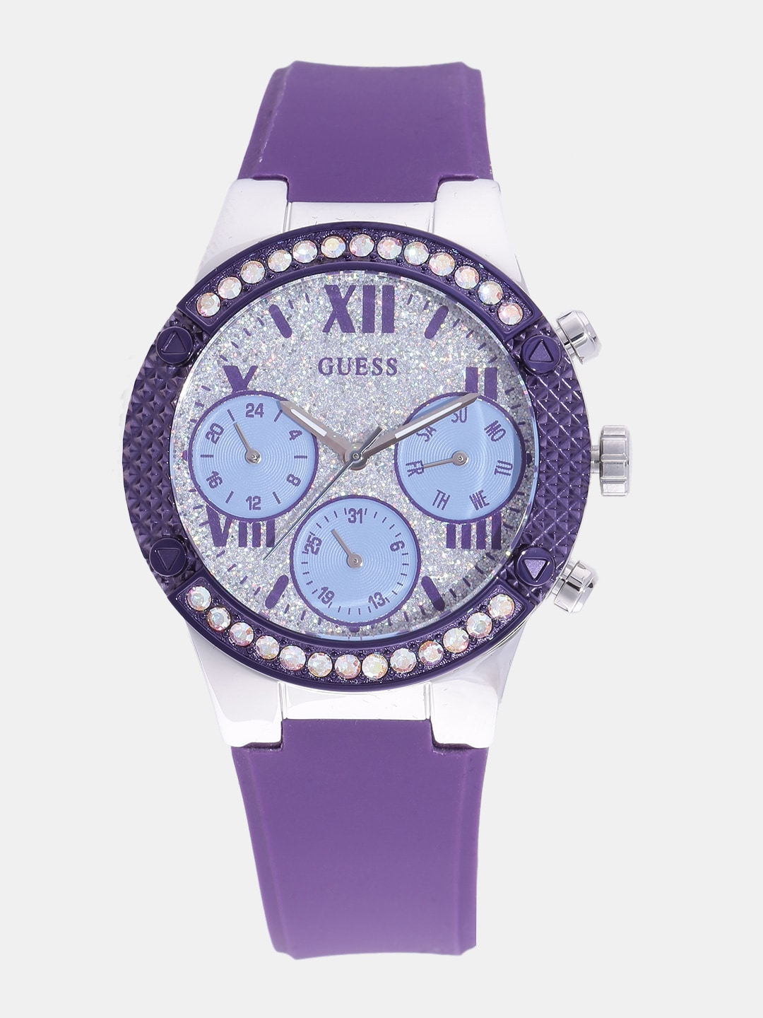 GUESS Women Silver-Toned Analogue Watch W0773L4_OR image