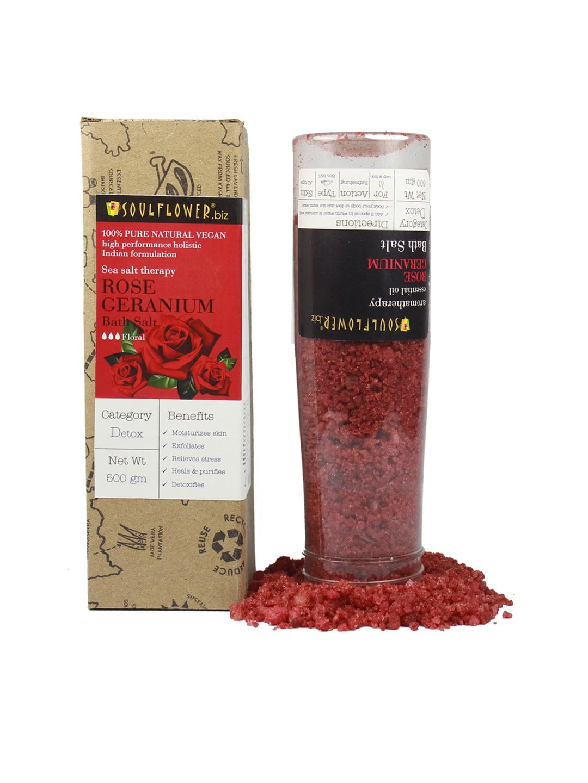 Soulflower Unisex Rose Germanium Bath Salt image