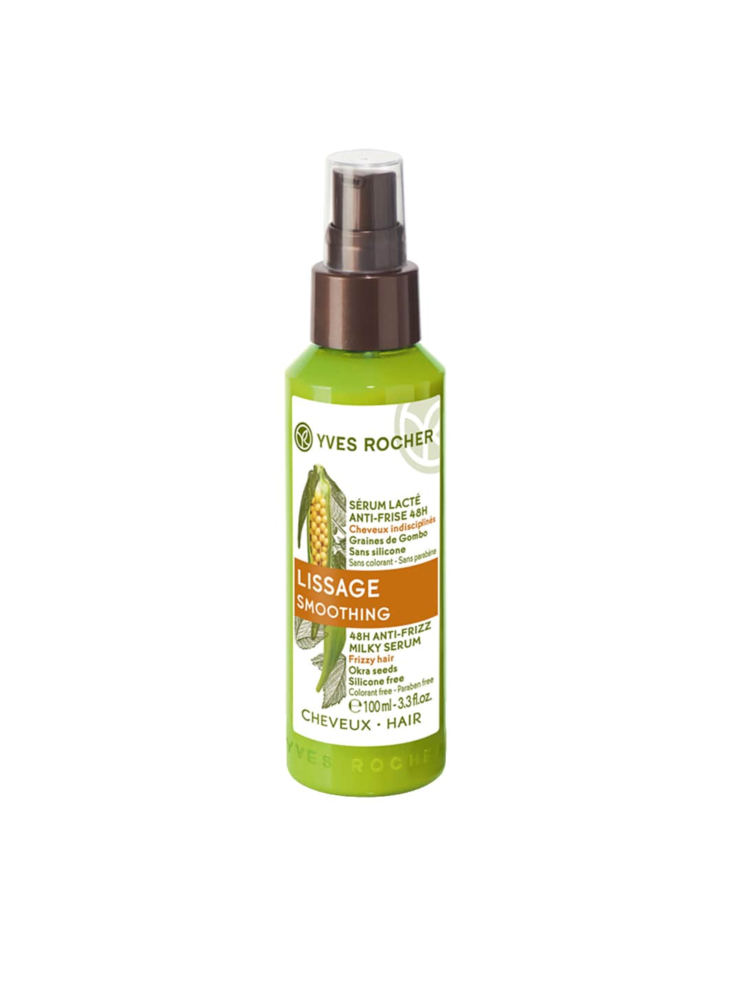 YVES ROCHER Unisex Lissage Smoothing 48H Anti-Frizz Milky Serum 100 ml image