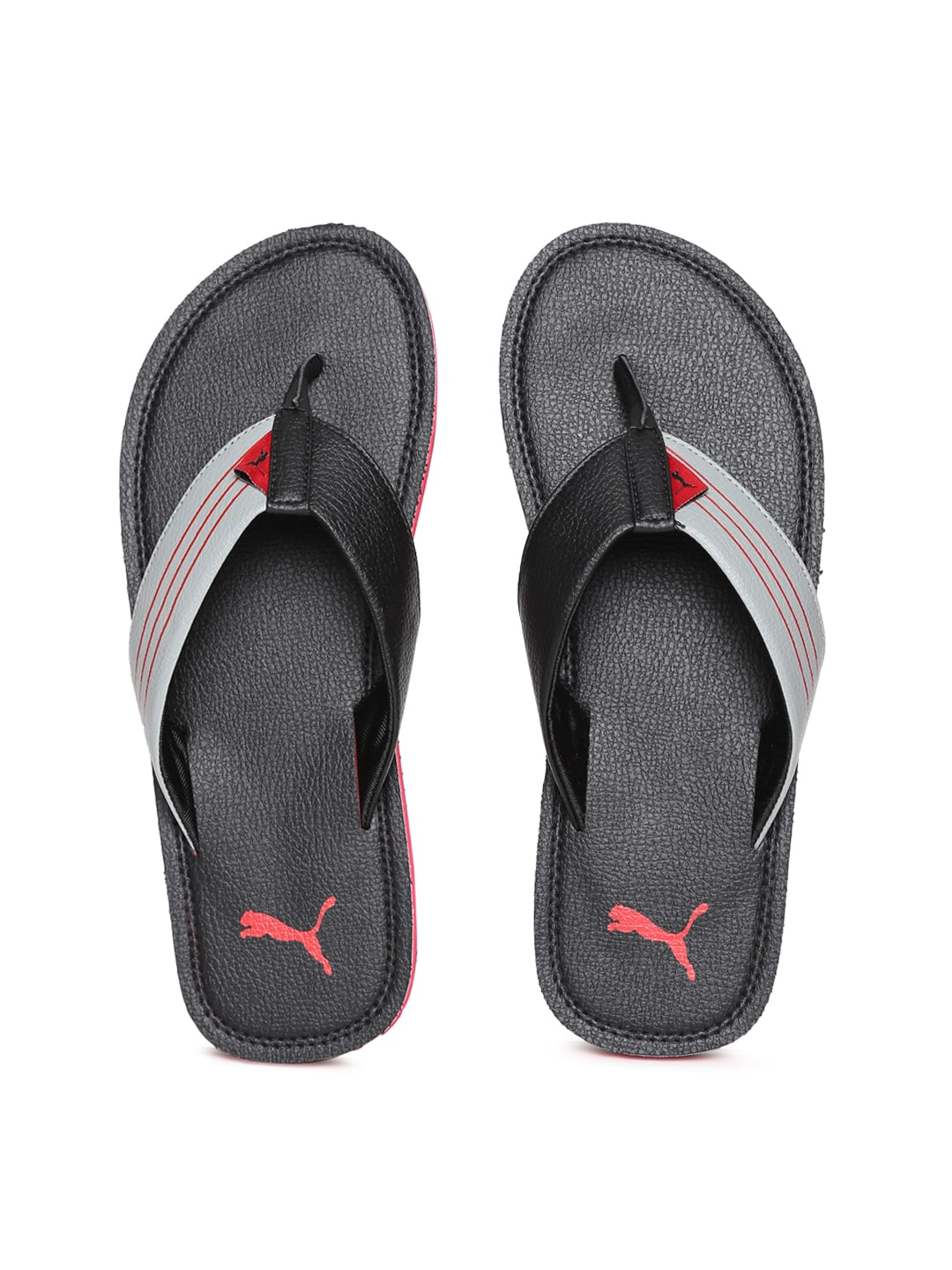 Puma Men Black & Grey Blink Duo IDP Flip-Flops image