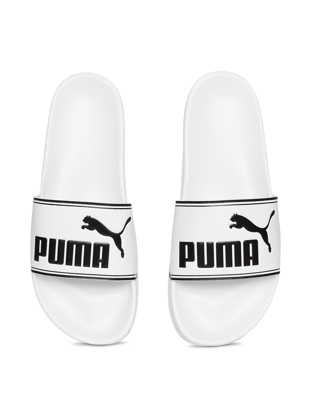 Puma Unisex White Leadcat Sliders image