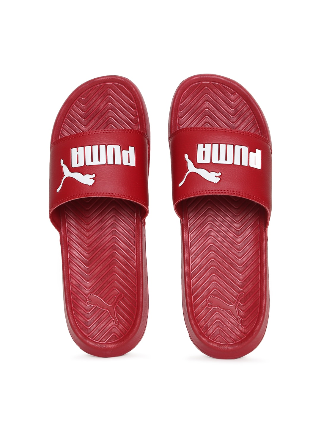 Puma Men Red Popcat Slides image