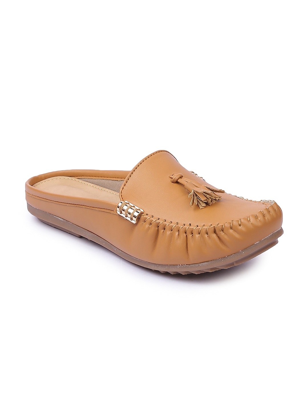 Lovely Chick Women Tan Mules image