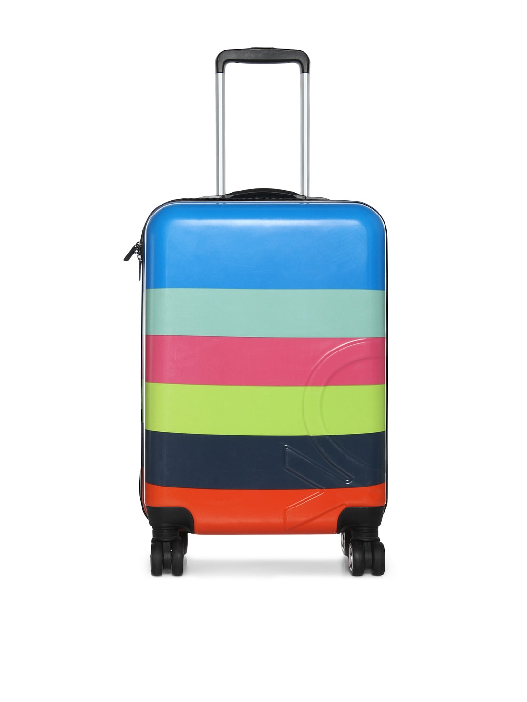 Buy United Colors of Benetton Unisex Multicoloured Cabin Trolley Suitcase At Best Price