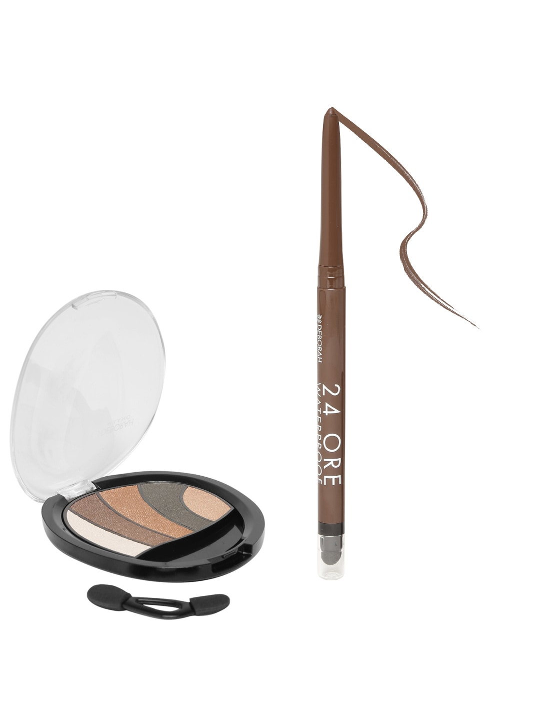 Deborah Milano 24 ORE Brown Waterproof Eye Pencil & Eyeshadow Palette 01 image