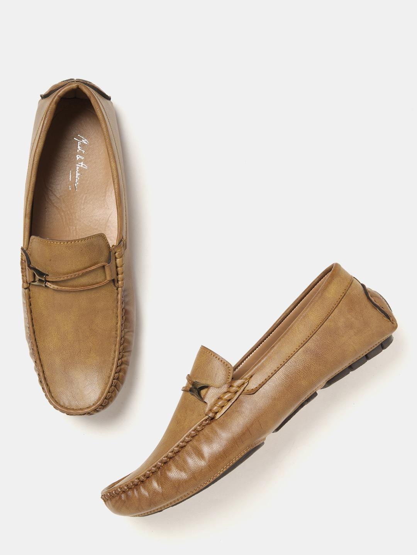 Mast & Harbour Men's Camel Brown Loafers