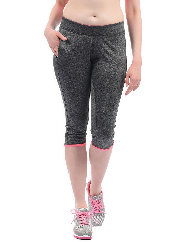 Sweet Dreams Women Charcoal Grey Solid Regular Fit Capris image