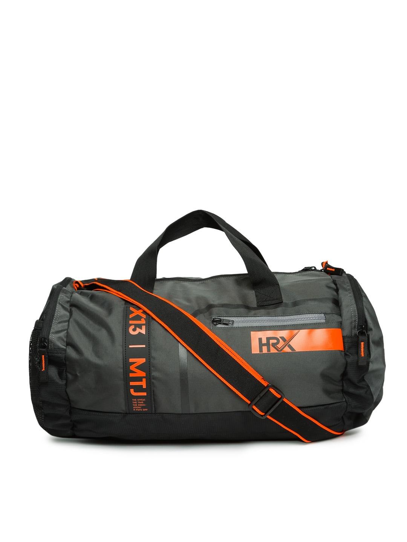 HRX by Hrithik Roshan Black Duffel Bag