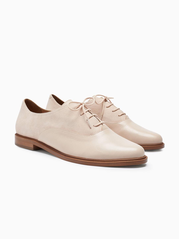 next Women Beige Derby Shoes image