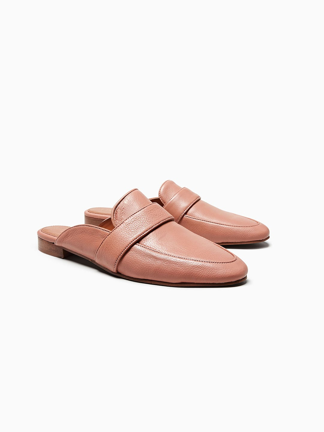 next Women Pink Leather Mules image