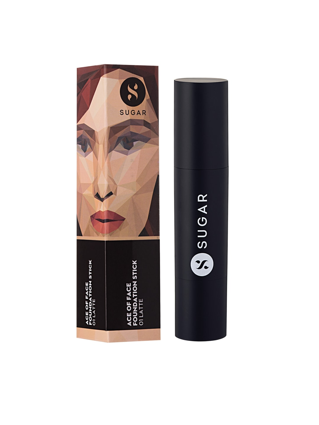 SUGAR Cosmetics Ace Of Face Foundation Stick 01 Latte (Light) image