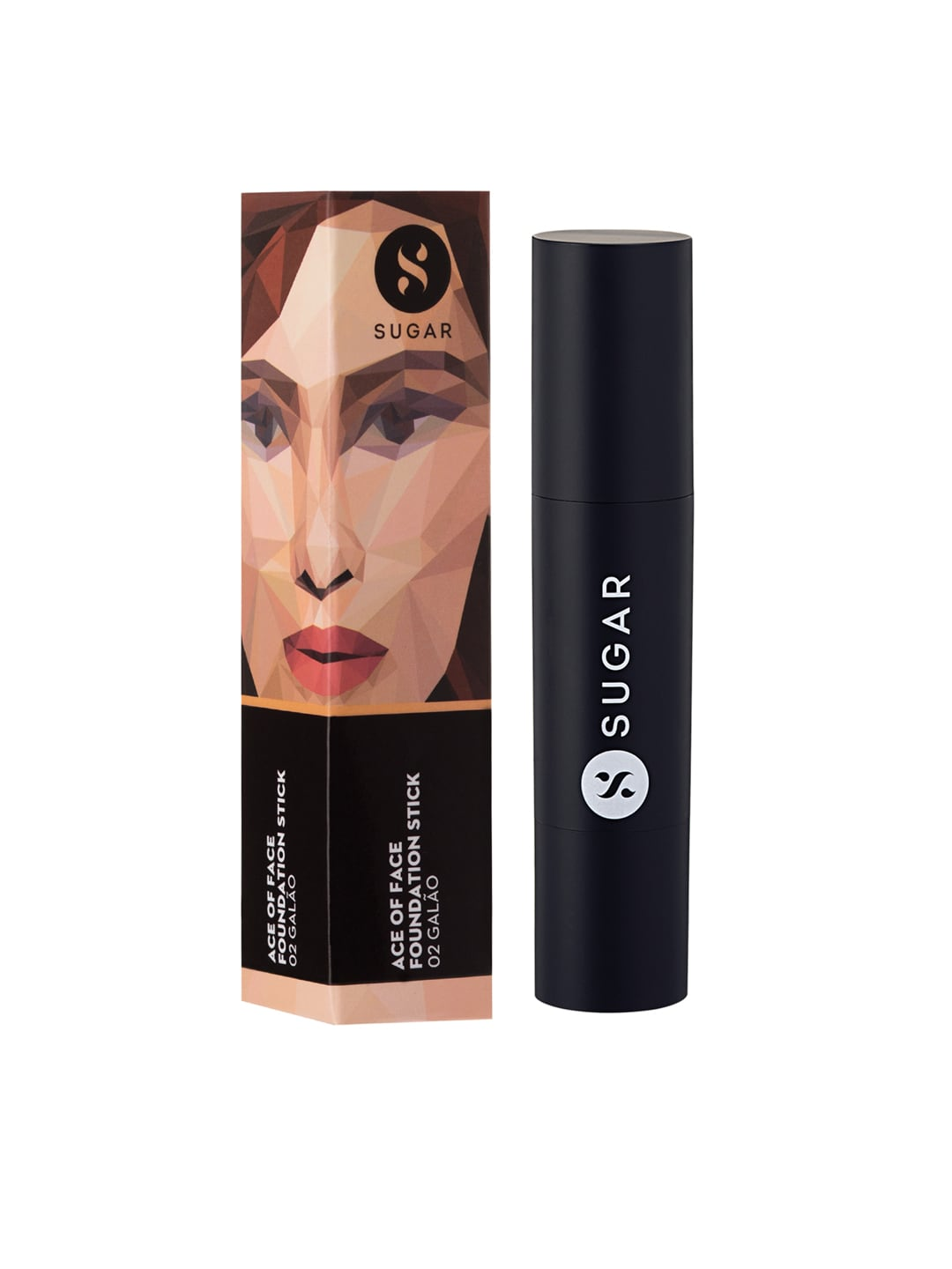 SUGAR Cosmetics Ace Of Face Foundation Stick 02 Galo (Light Medium) image