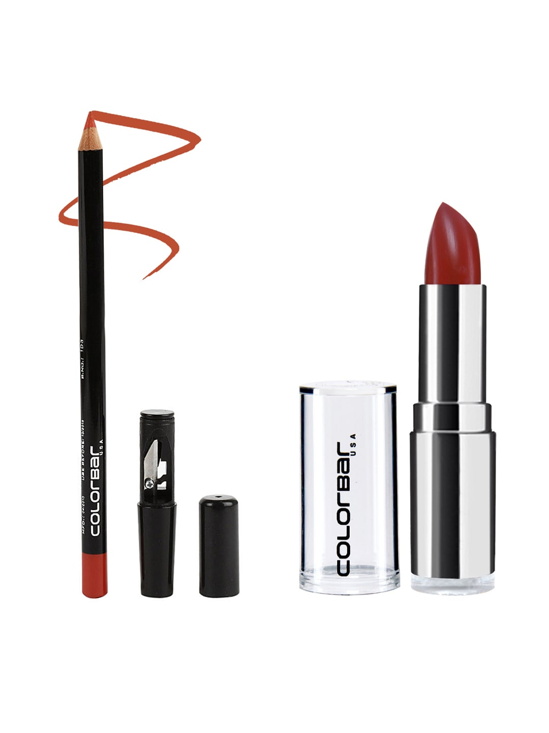 Colorbar Pack of Lipstick & Lipliner image