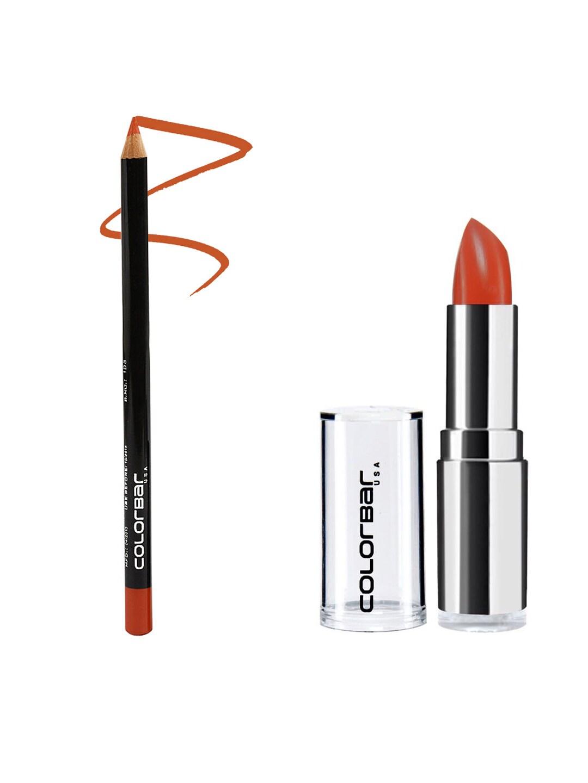 Colorbar Pack of Lipstick & Lipliner image