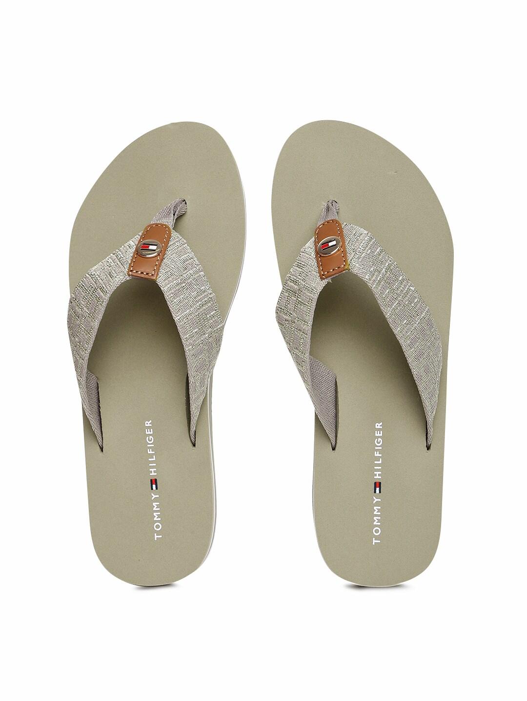 Tommy Hilfiger Women Brown Solid Thong Flip-Flops image