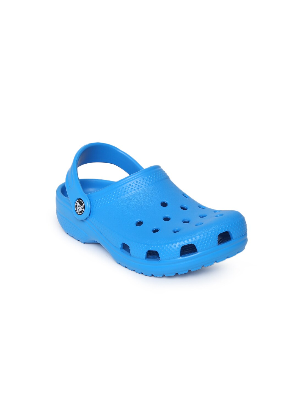 Crocs Unisex Blue Solid Classic Clogs image