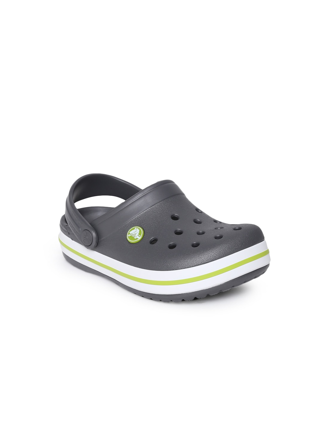 Crocs Unisex Charcoal Grey Solid Crocband  Clogs image