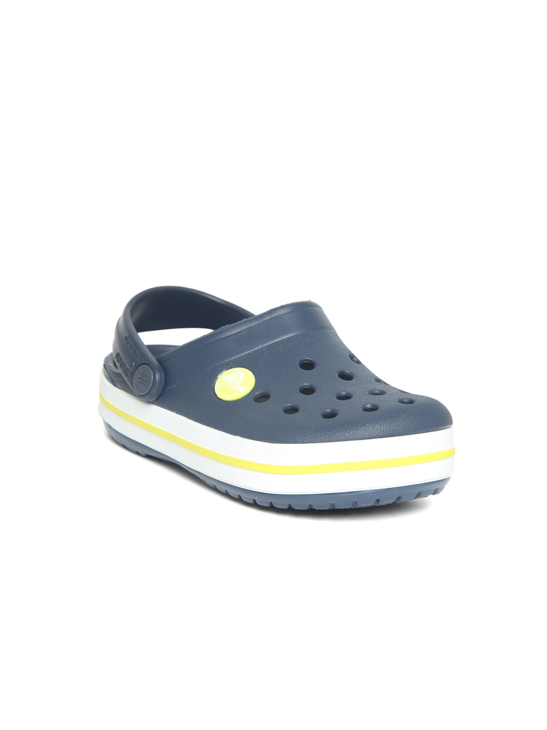Crocs Kids Navy Blue Solid Clogs image
