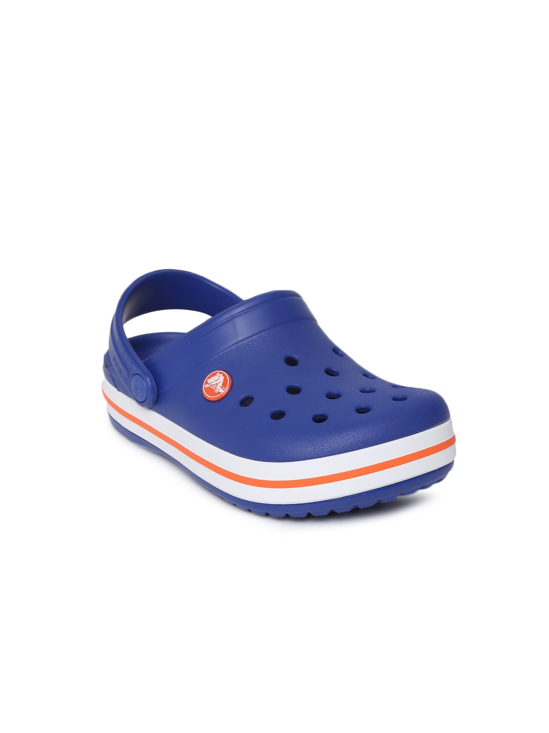 Crocs Unisex Blue Solid Crocband Clogs image