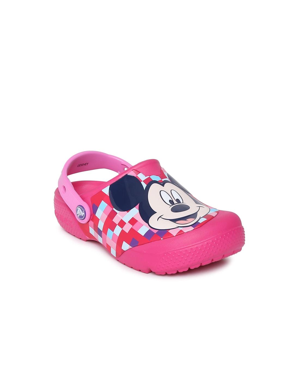 Crocs Unisex Pink FunLab Mickey Printed Clogs image