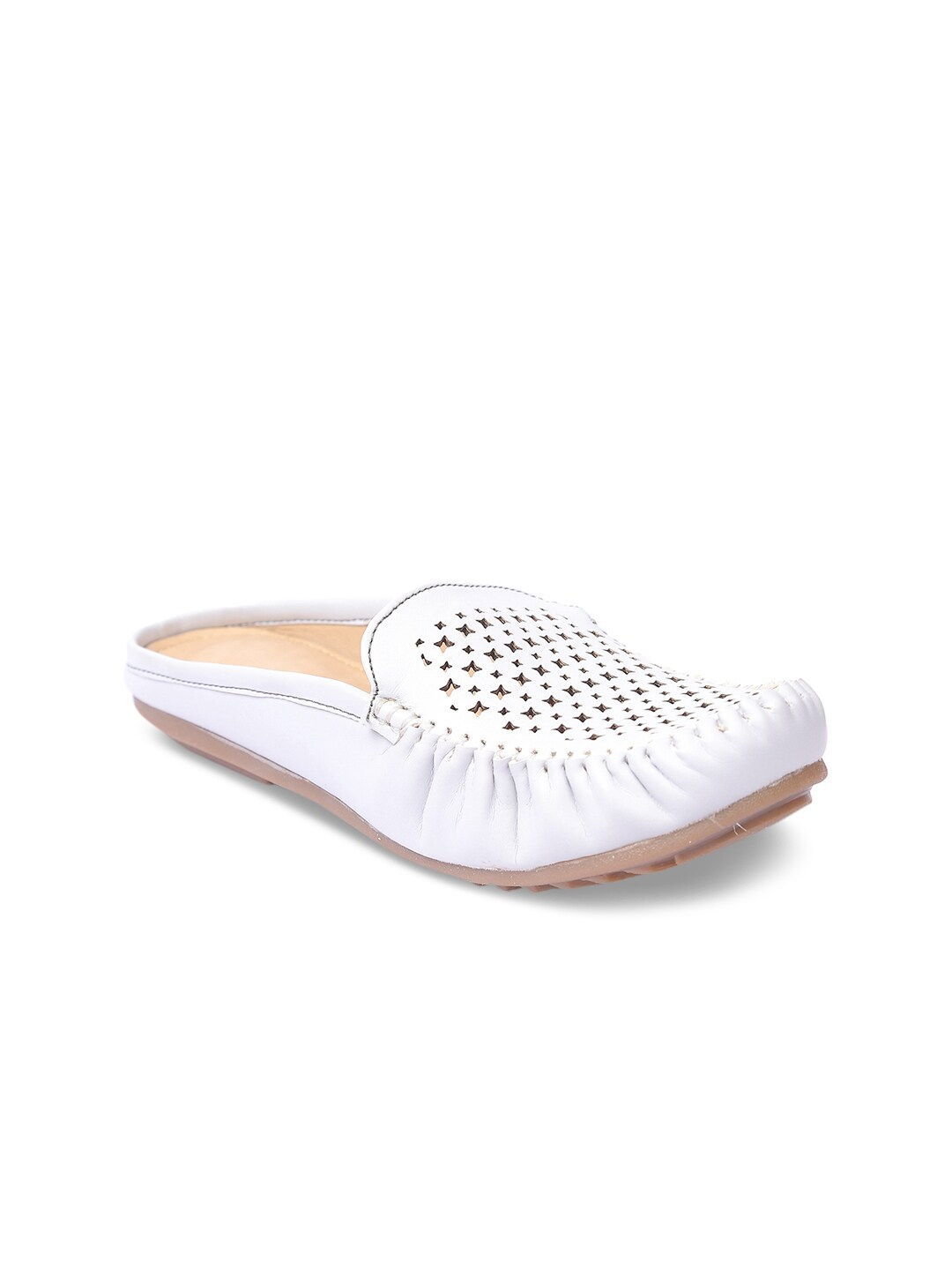 Lovely Chick Women White Mules image